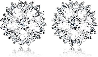 White Bridal Earrings White wedding Jewelry White Sakura Earrings White Cherry Blossom