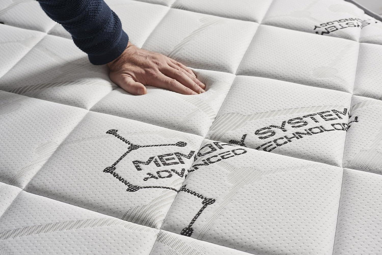 Mousse adaptative Aera Pur Visco V90 Haute Densit/é Matelas System 70 x 190 cm 21 cm Mousse HR Active Latex