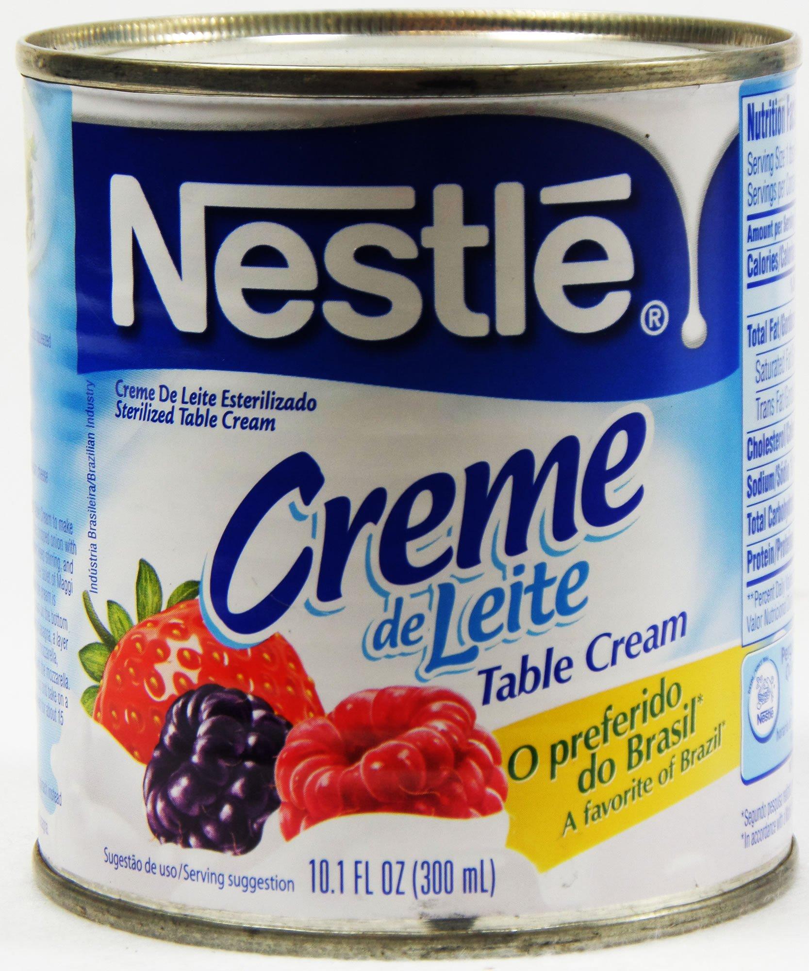 Nestlé Creme de Leite 300ml   Table Cream 10.1 Fl.Oz. (Pack of 04) by Nestle (Image #2)