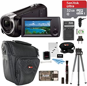 Sony HDR-CX405/B Handycam HD Camcorder w/ 32GB Deluxe Accessory Kit
