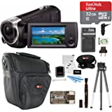 Focus Camera Sony HDR-CX405/B Full HD Handycam Camcorder (Black) + Sony 8GB Class 10 Micro SDHC R40 Memory Card + Camera Bag + Accessory Kit