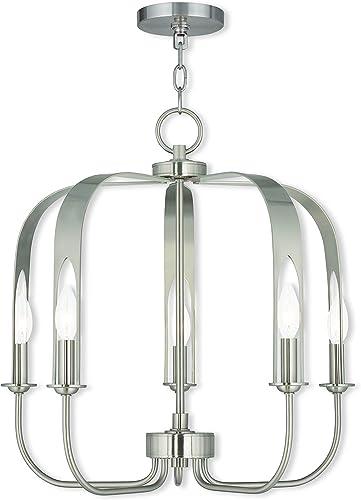 Livex Lighting 51935-91 Brushed Nickel Chandelier