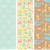 Pack of 3 Rolls of Baby Shower Wrapping Paper 3 Different Gift Wrap 8ft x 30in Rolls Included Newborn Baby Designs.