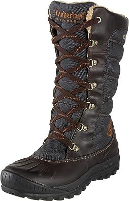 jugador Pence Escarpa  Timberland Mount Holly Lace Duck- Botas impermeables de caña alta para mujer,  color marrón, talla 36: Amazon.es: Zapatos y complementos