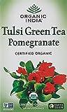 Organic India Tulsi Green Tea Pomegranate 18 Tea Bags