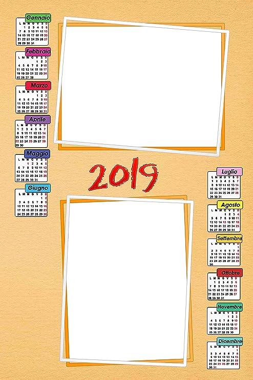 Calendario Fotografico Personalizzato.Calendario Plastificato A3 Personalizzato Con 2 Foto 2019 Da