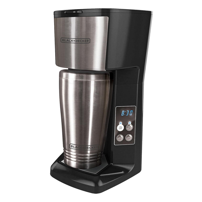amazoncom blackdecker cm625b single serve coffee maker with travel mug black kitchen u0026 dining