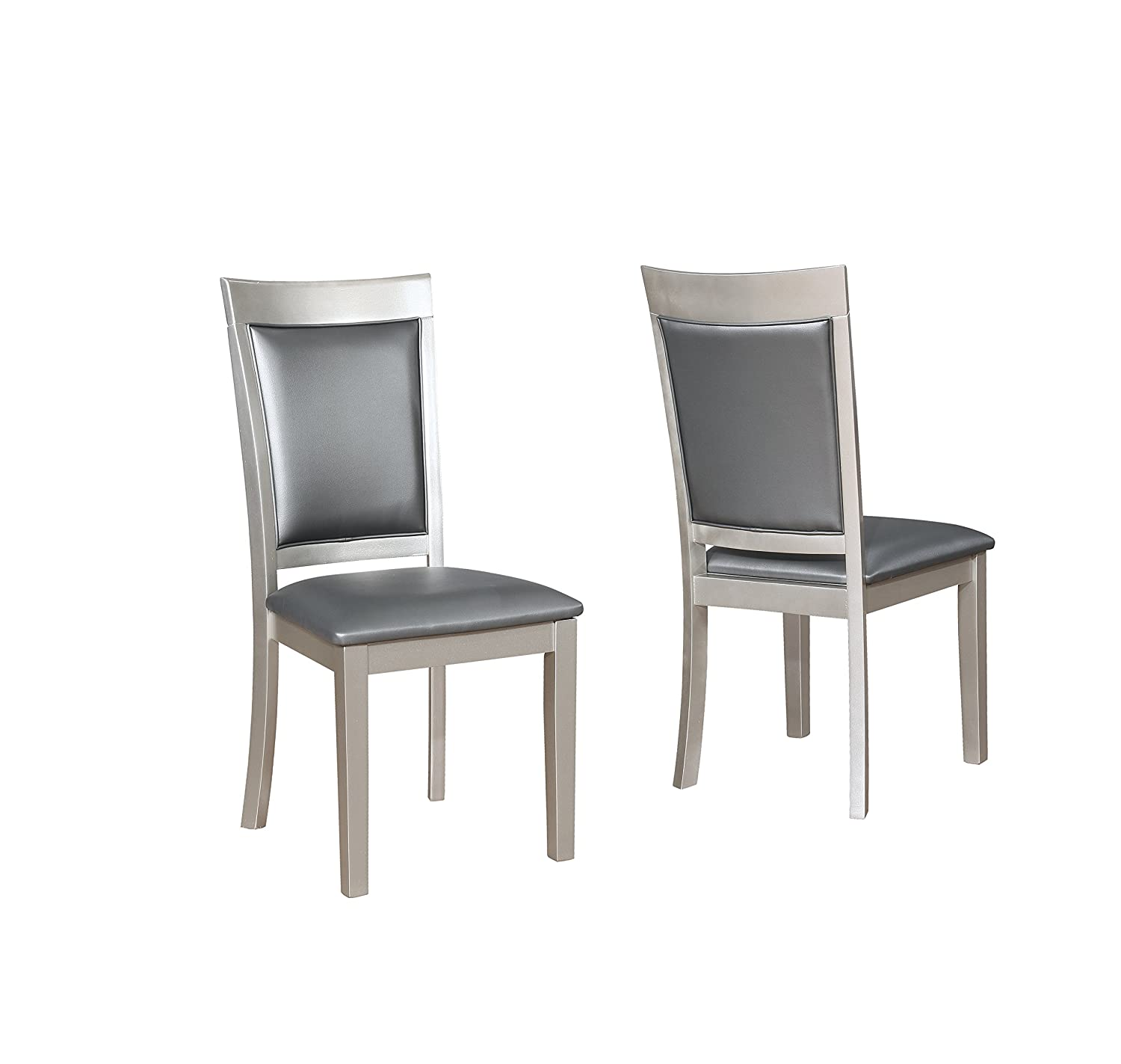 Roundhill Furniture Avignor Contemporary Simplicity Dining Chair, Set of 2