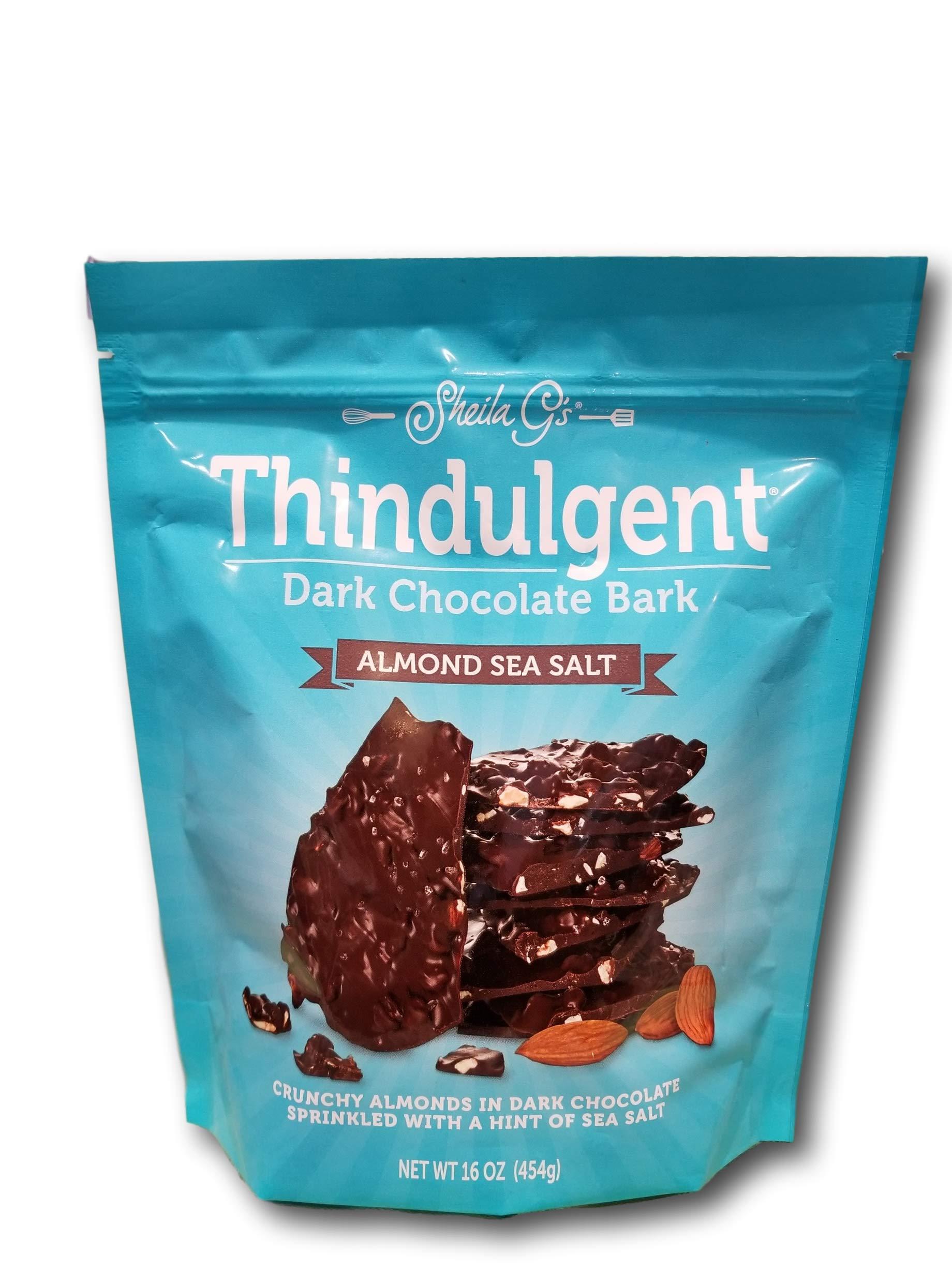 Thindulgent Dark Chocolate Almond Bark with Sea Salt by Thindulgent