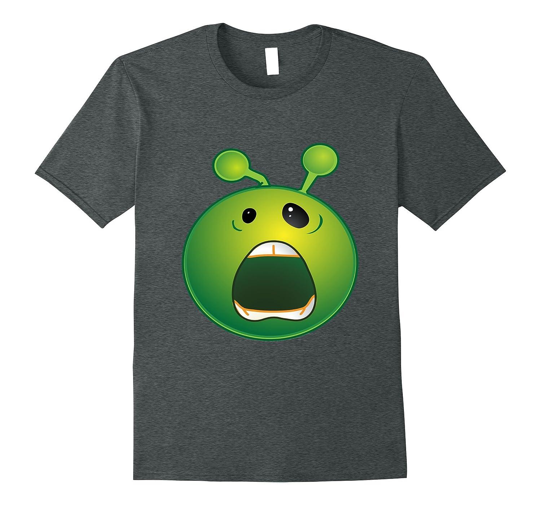 Green Screeming Yelling Alien Emoji T-Shirt All Shirt Sizes-T-Shirt