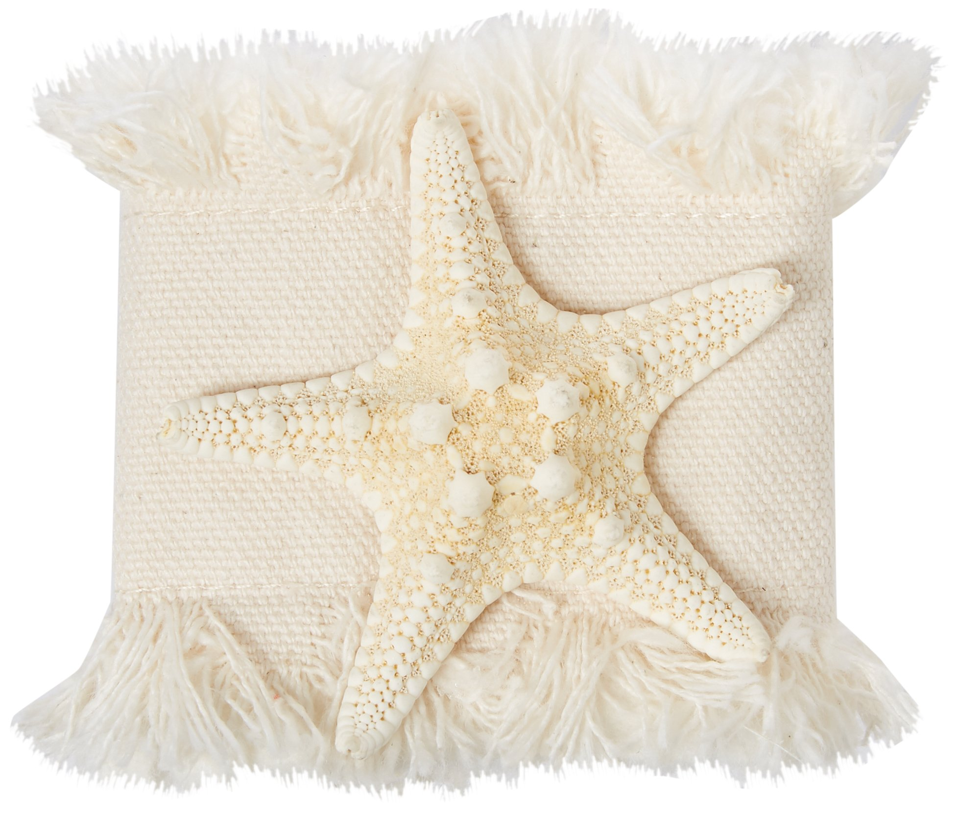 Beach Dining BNR-I-SF-01-8 Beach Dining - Napkin Ring, Natural Starfish (8 Pack), Ivory