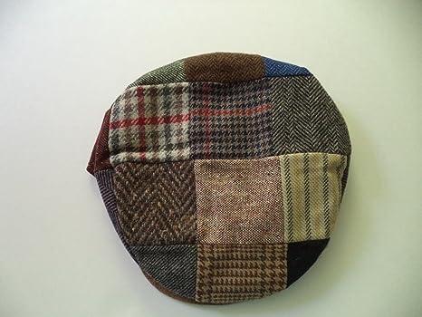Amazon.com  Traditional Irish Tweed Flat Cap Patchwork - Medium  Everything  Else a8455ac2b571