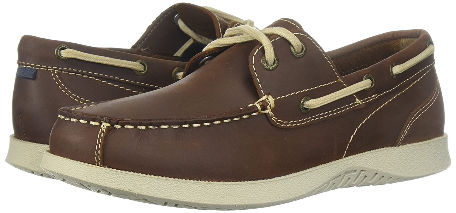 Nunn Bush Men S Bayside Two Eye Boat Shoe All Leather With Lightweight Eva Non Marking Outsole