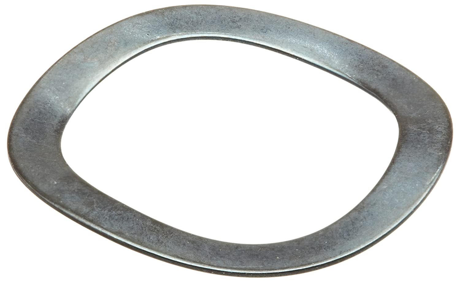3 Waves Inch Wave Washers 0.018 Thick 0.055 Compressed Height High Carbon Steel 20lbs Load, 1.239 ID 1.593 OD Pack of 10