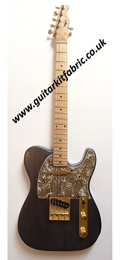 Oro de Telecaster guitarra estilo, madera de caoba – Luthier personalizado diseñado