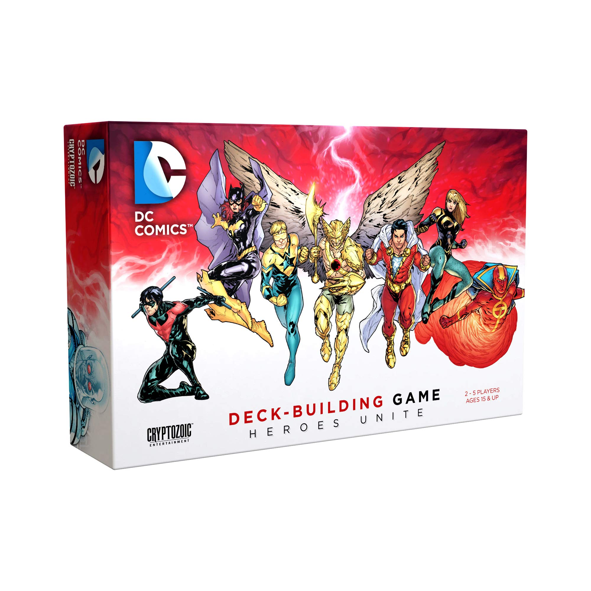 DC Deck-Building Game: Heroes Unite- Play as Hawkman, Nightwing,and Bat Girl from the DC Multiverse- Super Hero Board Game- For 2 to 5 Players - Ages 15+