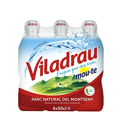 Viladrau Tapón Sport Mou Agua Mineral Natural - Pack de 6 x 0,5 l