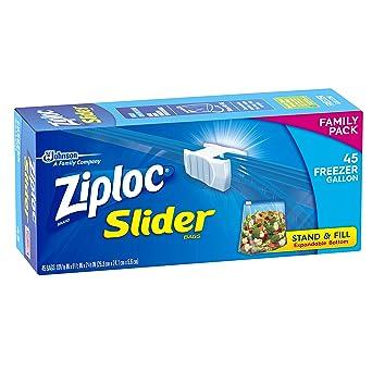 Amazon.com: Bolsas para congelador, 45 galones, con cierre ...