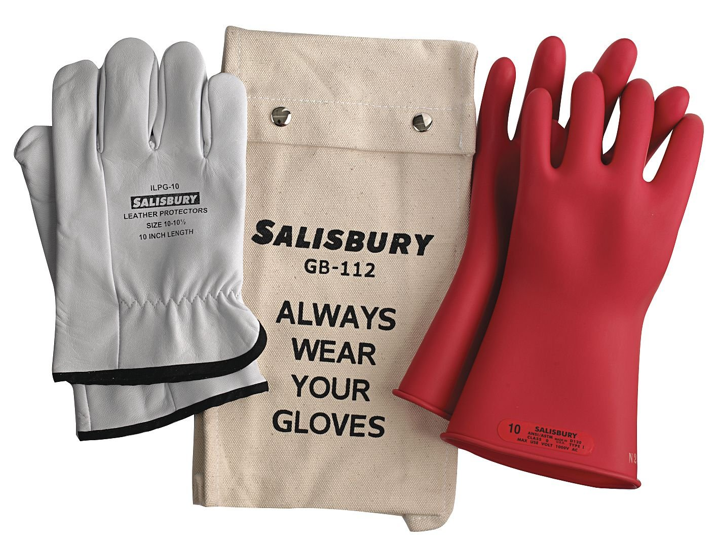 Salisbury by Honeywell GK011R10 Insulated Glove Kit, Class 0, Red, 11''L, Size 10; One Pair