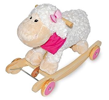 Fahrzeuge Pferd mit Karre Wagen Holz Ziehspielzeug Holzspielzeug NEU
