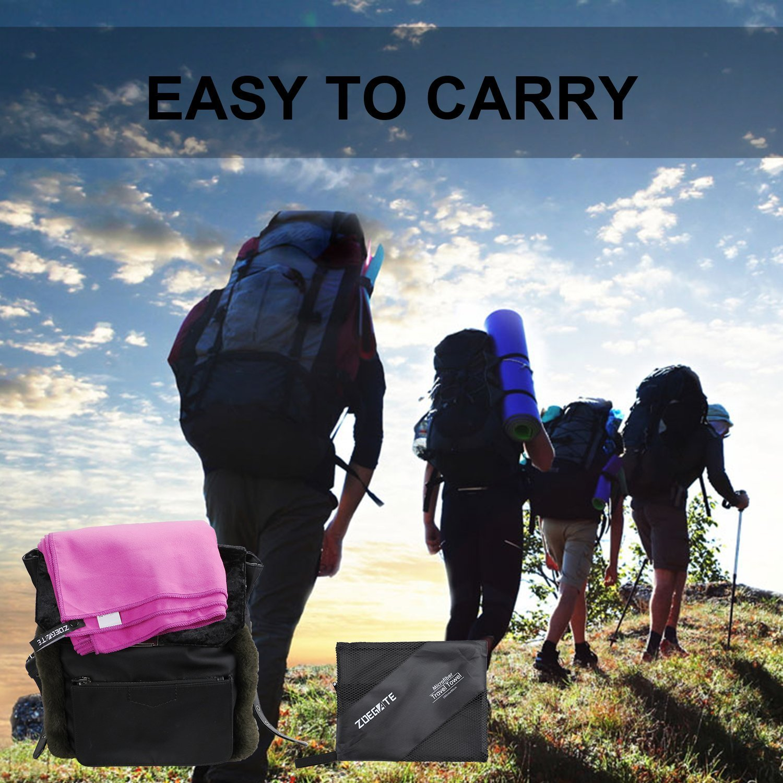 Voyage Leger Yoga Plage Camping Voyage Zoegate XXL XL Microfibre Grande Serviette Serviette de microfibre Piscine Gym Yoga Sechage Rapide Absorbent Drap de Bain Id/éal pour Plage