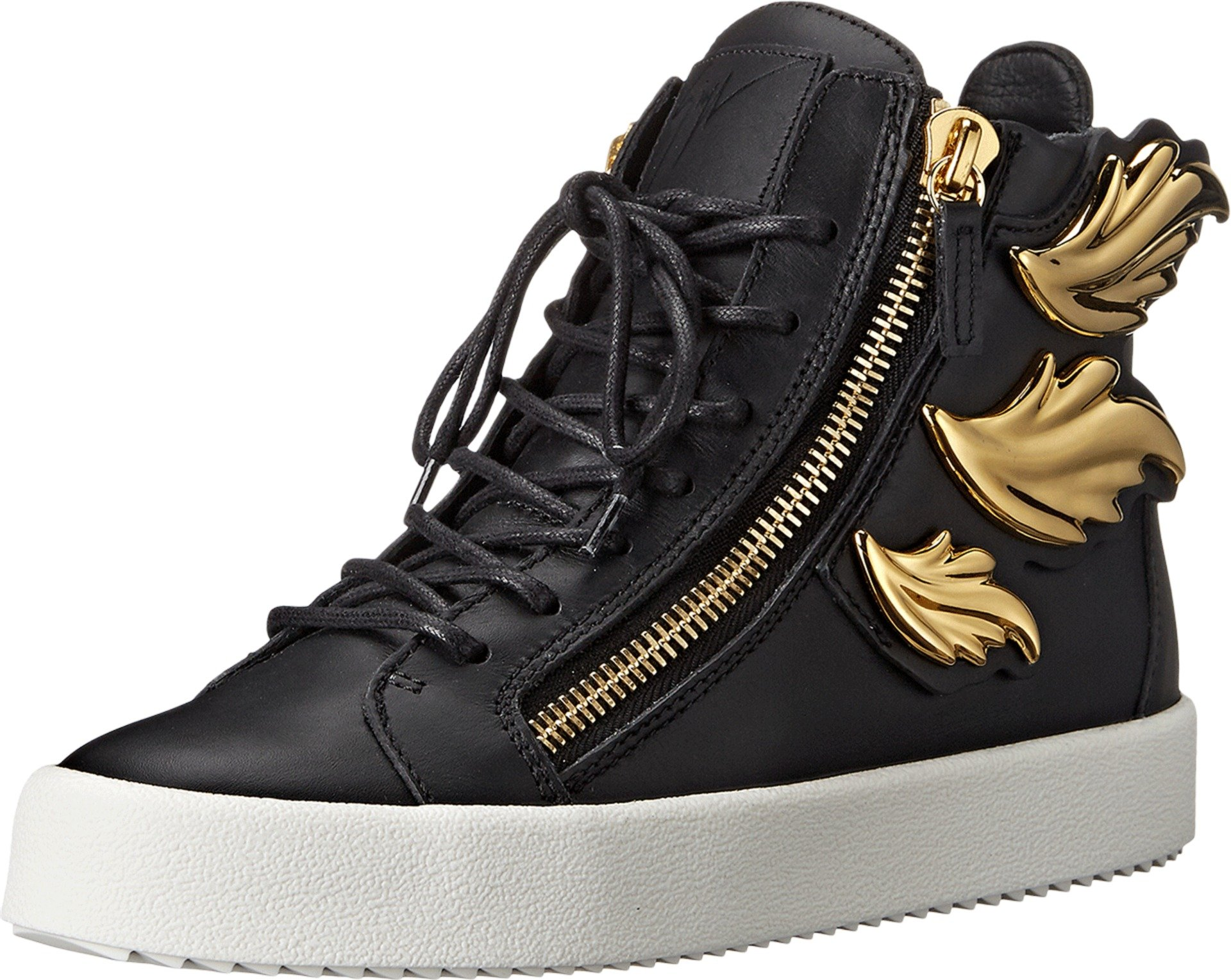Giuseppe Zanotti Women's Hi-Top Winged Sneaker Birel Nero 35 (US Women's 5) M