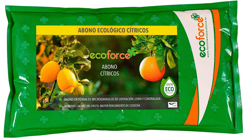 CULTIVERS Abono - Fertilizante Ecológico de 1,5 Kg Especial Cítricos. Origen 100% Orgánico y Natural Microgránulado. Mayor Rendimiento y Aumento del Calibre del Fruto