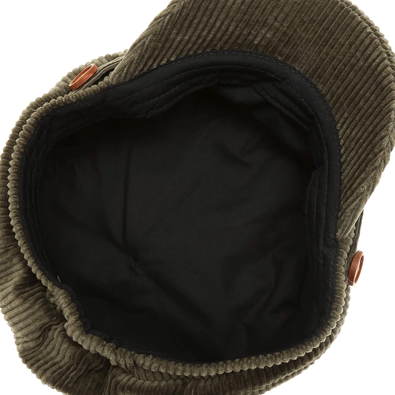 MIRMARU Womens Classic Visor Baker boy Cap Newsboy Cabbie Winter Cozy Hat with Comfort Elastic Back