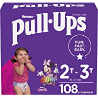 Girls Potty Training Underwear, 2T-3T, Pull-Ups Learning Designs for Toddlers, 108 ct, One Month Supply