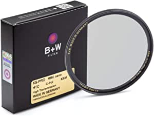 B + W Circular Polarizer Kaesemann - Xtra Slim Mount (XS-PRO), HTC, 16 Layers Multi-Resistant and Nano Coating, Photography Filter, 77 mm