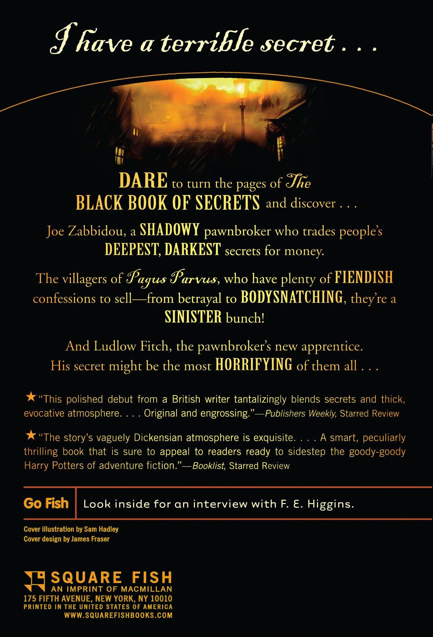 The Black Book of Secrets F E Higgins 9780312629052 Amazon