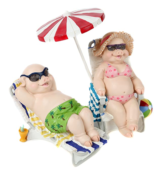 Trenton Gifts Sunbathing Pig Set
