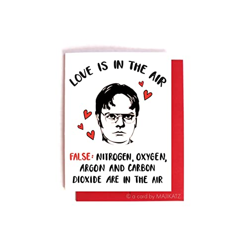dwight schrute anti love the office valentines day anniversary card