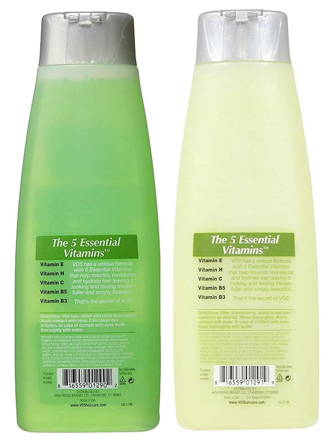 Amazon.com : VO5 Herbal Escapes Kiwi Lime Squeeze + Lemongrass Extract Shampoo & Conditioner (15 Oz each) : Beauty