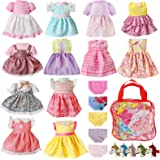 Alive Baby Doll Clothes and Accessories - 12 Sets Girl Doll Clothes Dress for 12 13 14 15 16 Inch Doll, Bitty Baby Doll Cloth