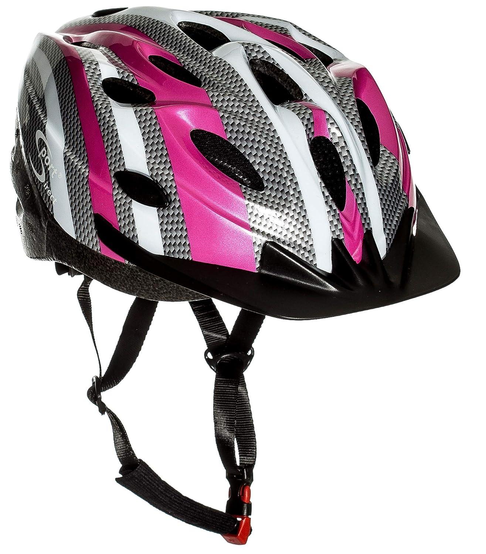 Sport Direct SH515 55-58cm Junior/ Ladies Helmet - Pink/ Silver Sport DirectTM