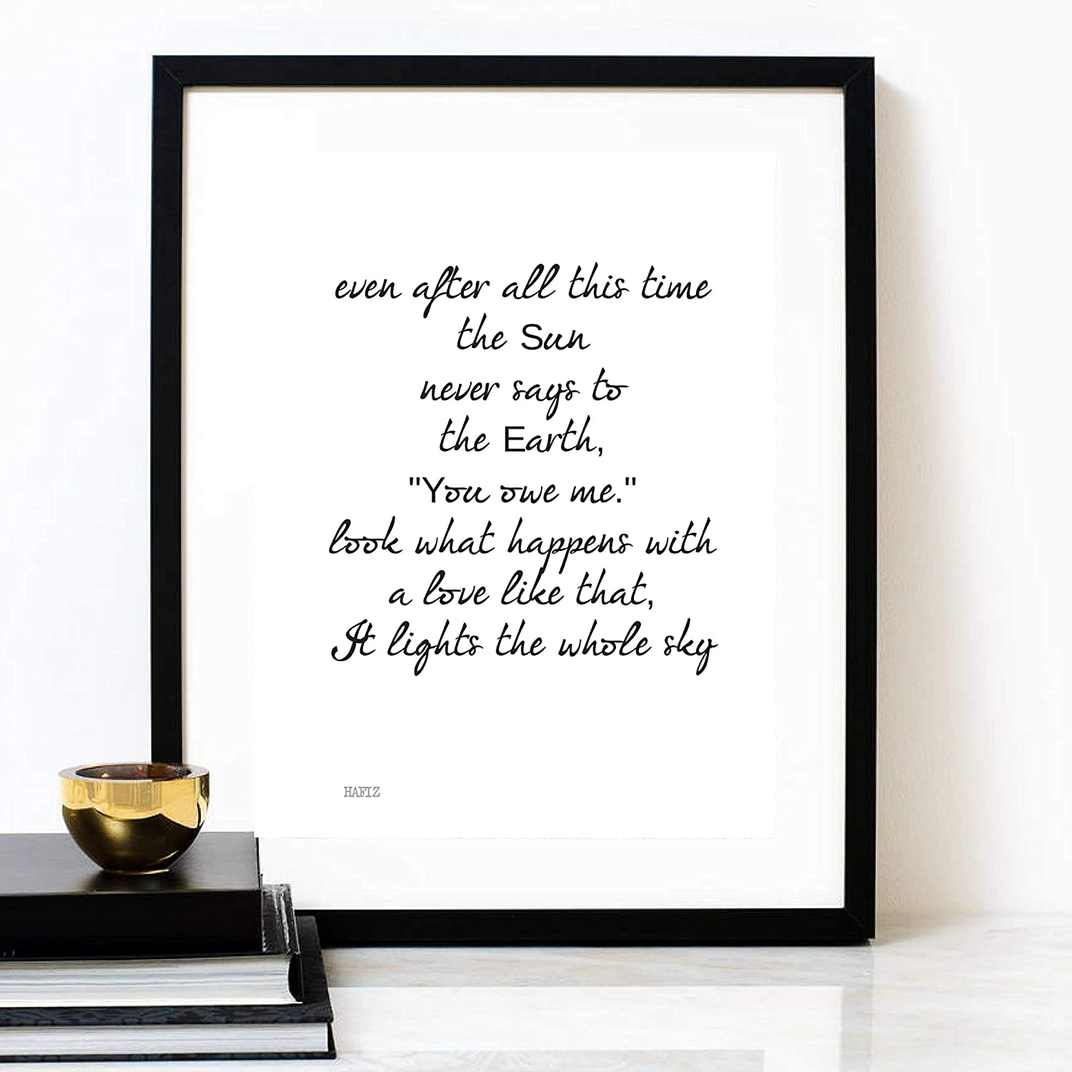 Amazon The Sun The Earth Hafiz Poem Poetry Print