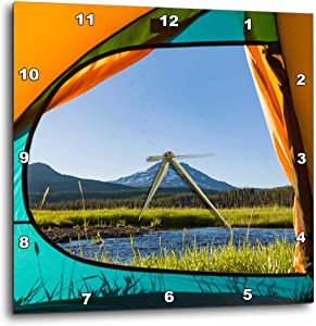 3dRose View from Tent, South Sister, Sparks Lake, Eastern Oregon - Wall Clocks (DPP_332017_2)