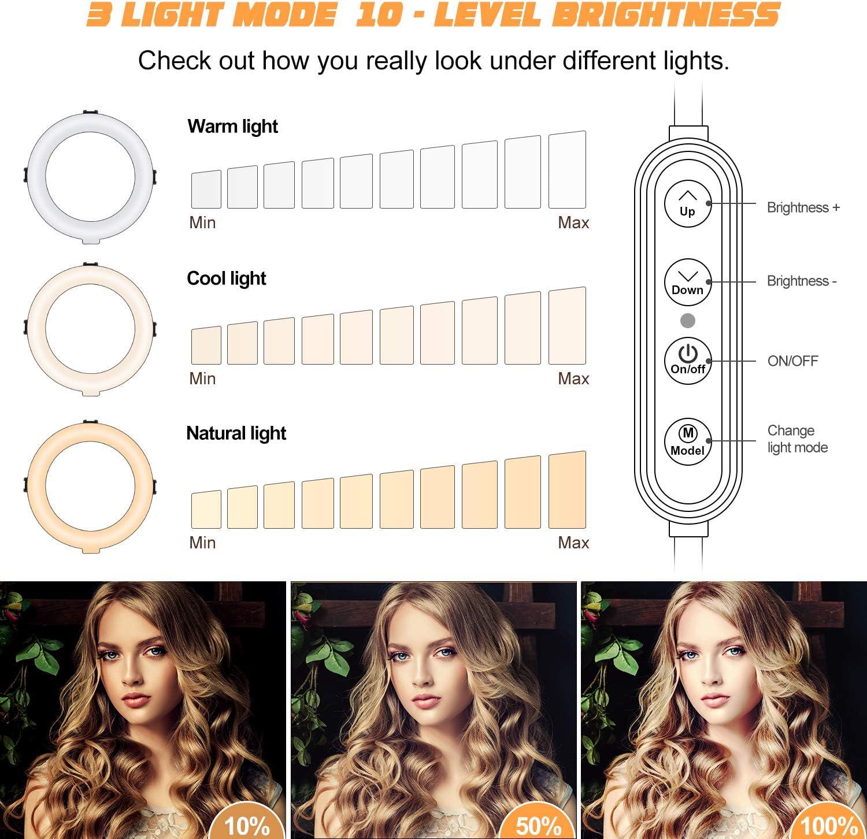 reflector con funda de transporte port/átil para anillo de luz 220 cm paraguas WASJOYE Tr/ípode de luz para estudio fotogr/áfico grabaci/ón de v/ídeo softbox
