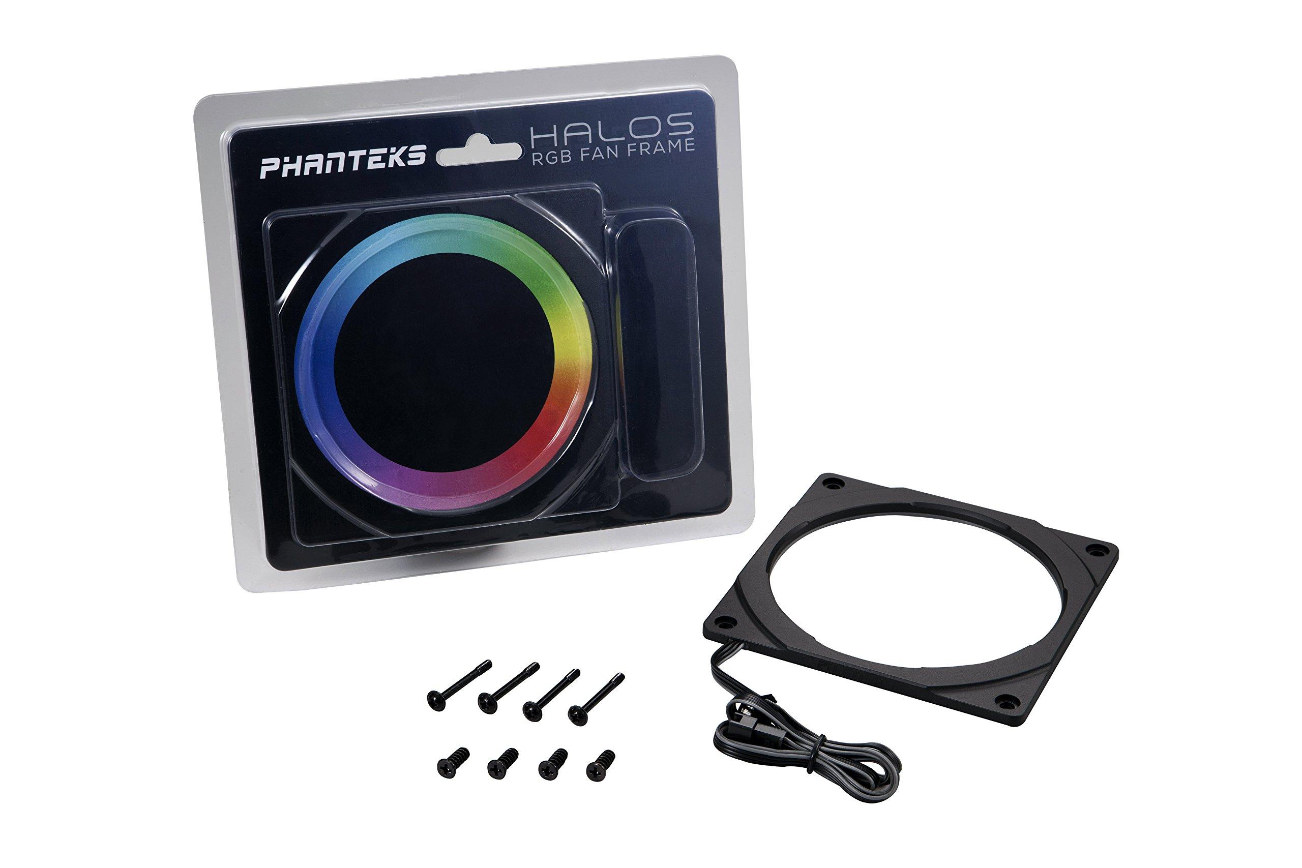 Phanteks PH-FF120RGBP_BK01 Halos RGB Fan Frame High density LEDs RGB 120mm fan mounting by Phanteks (Image #1)