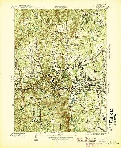 Amazon.com: YellowMaps Bristol CT topo map, 1:31680 Scale, 7.5 X 7.5 ...