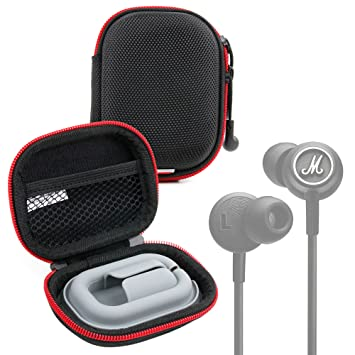 DURAGADGET Funda/estuche rígida color negro y rojo para auriculares Marshall Mode Android, Mode