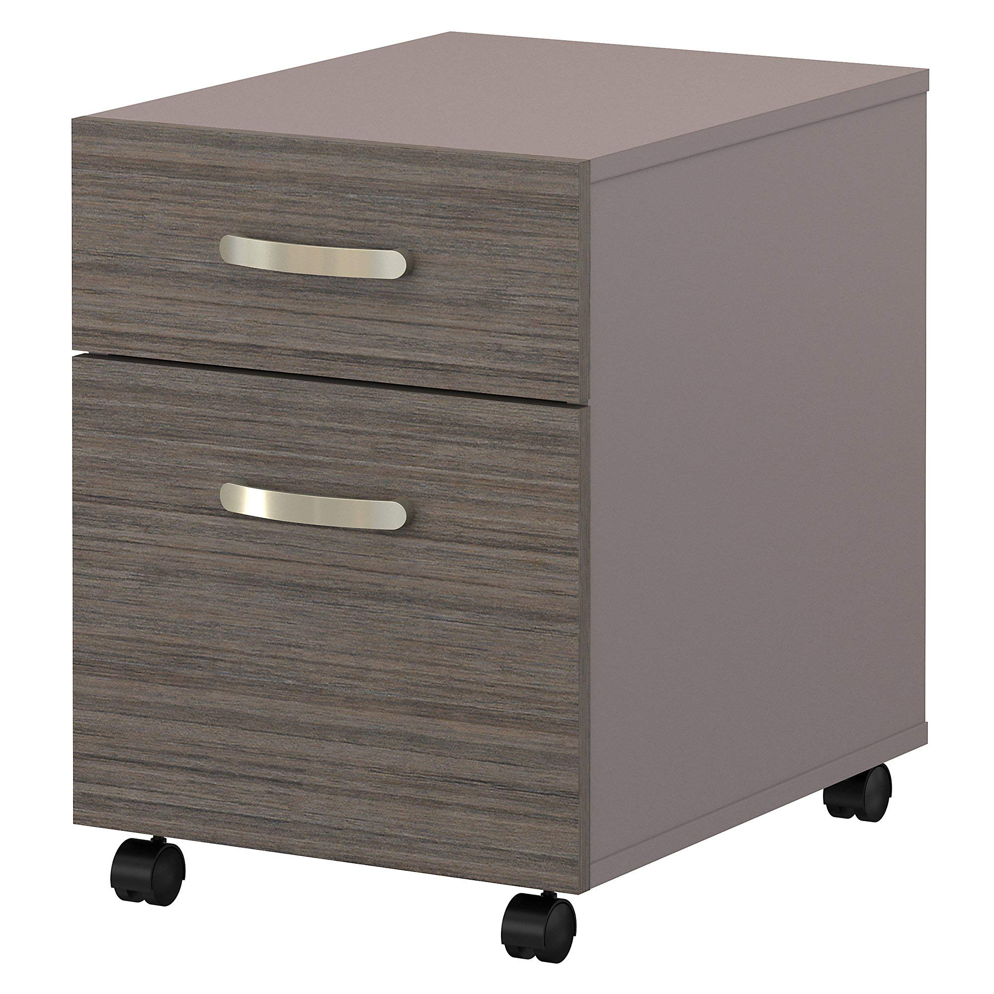 Bush Furniture Commerce 2 Drawer Mobile File Cabinet in Cocoa and Pewter by Bush Furniture (Image #1)