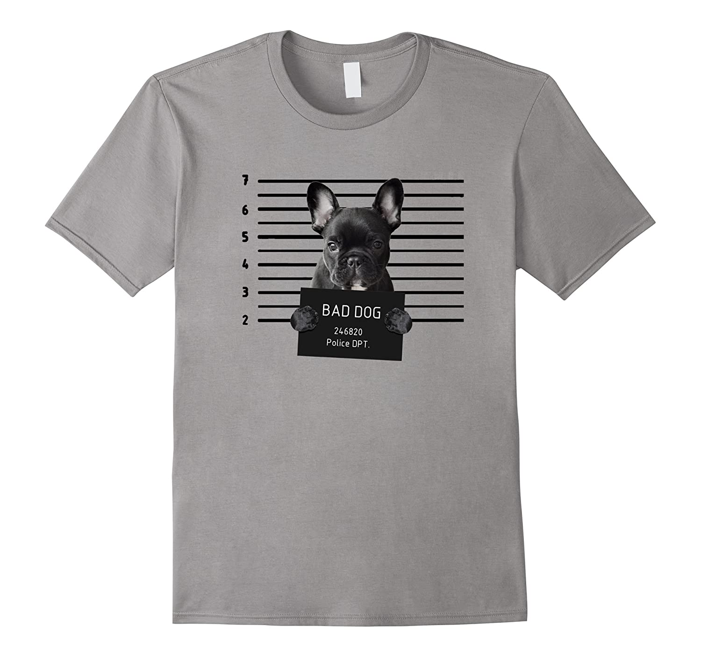 French Bulldog Prison T Shirt Bad Dog Jail Prisoner Puppy-TH