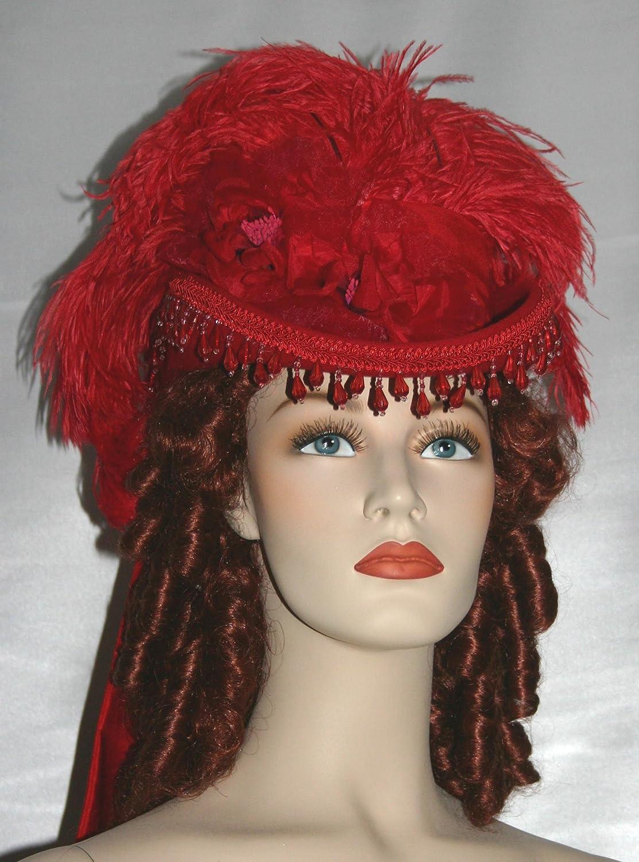 SASS Hat Red Victorian Tea Hat Riding Hat - Spirit of Phoenix at Amazon  Women s Clothing store  4c182943317
