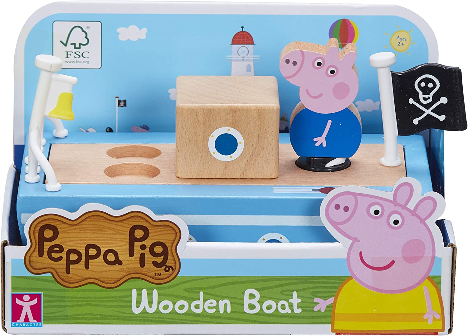 Peppa Pig- Barco de Madera. (Character Options LTD 07209)