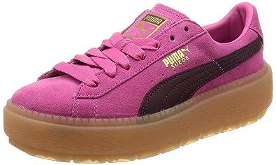1efc6b242c Puma Platform Trace Block Damen Sneaker Dunkel Rot: Amazon.de ...