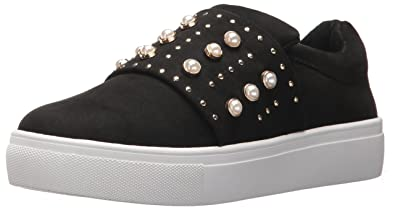 STEVEN by Steve Madden Women's Deylin Sneaker, Black, 5.5 Medium US