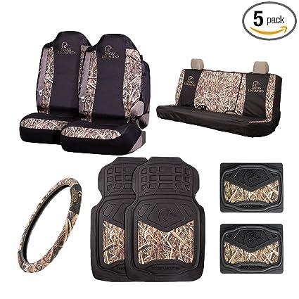 7a3f113fa4abf Amazon.com: Ducks Unlimited 8 Pc Universal Auto Accessories Kit | Mossy Oak  Shadow Grass Blades Camo: Automotive
