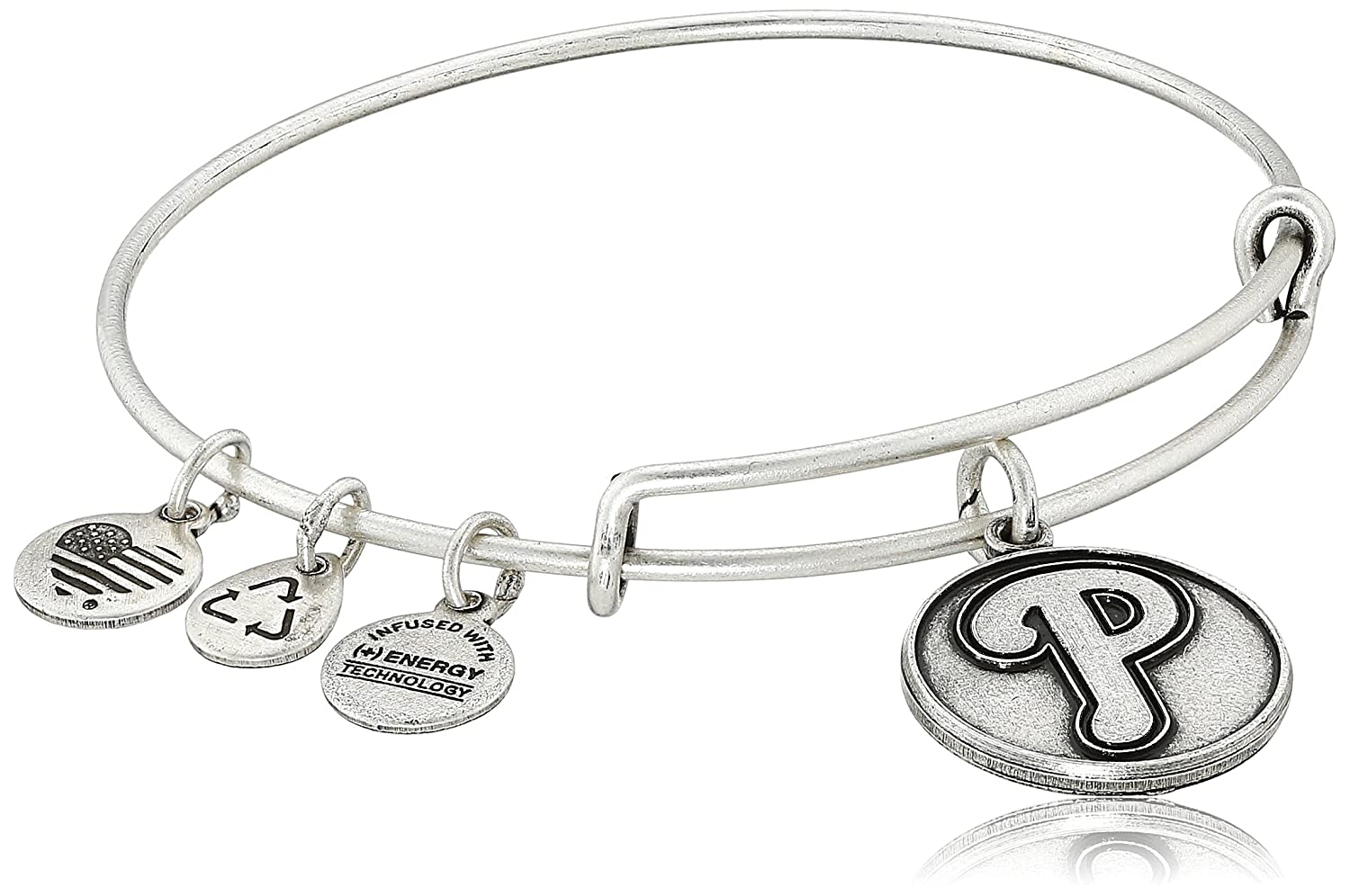 Alex and Ani Major League Baseball Sports Logo Expandable Wire Bangle Bracelet 7.75